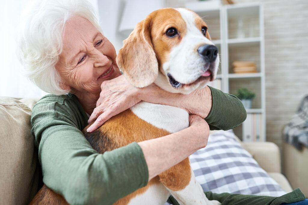 Evergreen Senior Living | Senior woman with dog