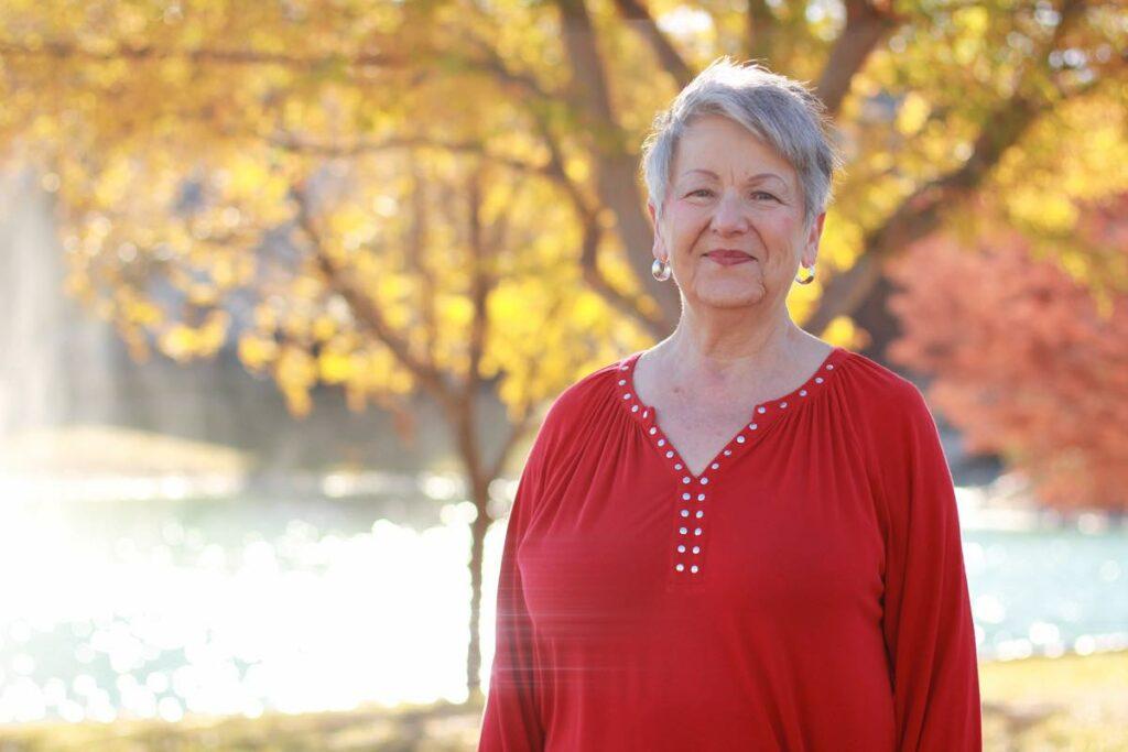 Evergreen Senior Living | Resident outdoors