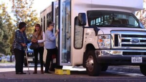 Evergreen Senior Living | Residents boarding bus