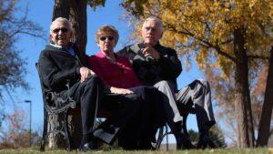 ER Senior Management   Residents sitting outdoors