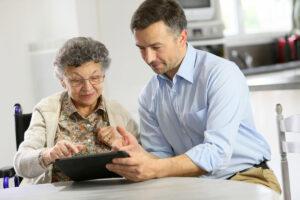 Evergreen Senior Living | Senior woman with associate