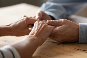 Meadow Lake | Seniors holding hands