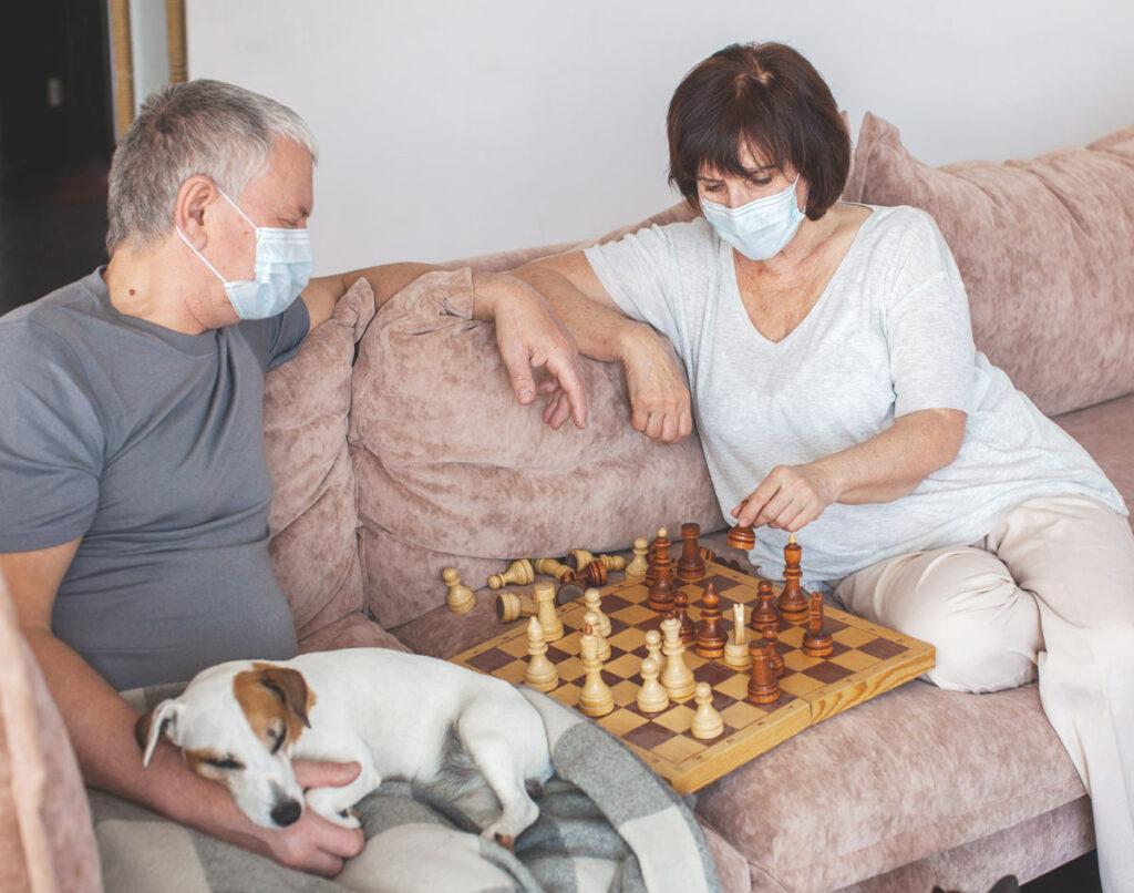 Evergreen Senior Living   Seniors playing chess